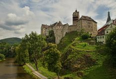 Château Loket dans la République Tchèque Image libre de droits