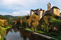 Château Loket. République Tchèque Photos libres de droits