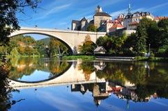 Château Loket. République Tchèque Photo stock