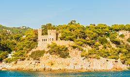 Château médiéval à Lloret de Mar, Espagne Photographie stock