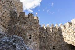 Château médiéval antique et majestueux Ville de Consuegra dans le p Image libre de droits
