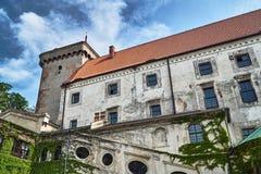 Château médiéval avec une tour dans Otmuchow Photographie stock libre de droits