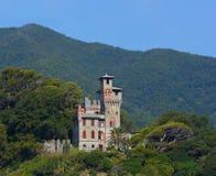 Château médiéval chez Moneglia, Italie Photo libre de droits