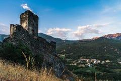 Château médiéval dans l'aosta Italie de ` de valle d images stock