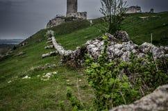 Château médiéval dans Olsztyn, Pologne Images libres de droits
