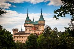 Château médiéval de Bojnice, héritage de l'UNESCO en Slovaquie photo libre de droits