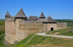 Château médiéval de forteresse de Khotyn, Ukraine Photo stock