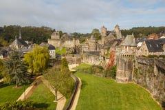 Château médiéval de Fougeres Photographie stock