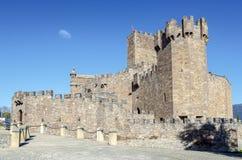 Château médiéval de Javier en Navarra l'espagne Images stock