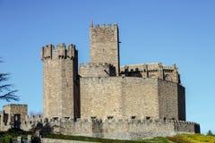 Château médiéval de Javier en Navarra l'espagne Image libre de droits