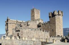Château médiéval de Javier en Navarra l'espagne Photographie stock