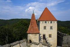 Château médiéval de Kokorin dans la République Tchèque photos stock