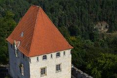 Château médiéval de Kokorin dans la République Tchèque images stock