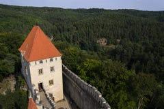 Château médiéval de Kokorin dans la République Tchèque Photo libre de droits