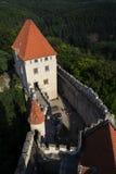 Château médiéval de Kokorin dans la République Tchèque photographie stock libre de droits