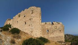 Château médiéval de Kritinia en Rhodes Grèce, Image libre de droits