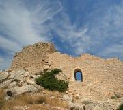 Château médiéval de Kritinia en Rhodes Greece Photographie stock libre de droits