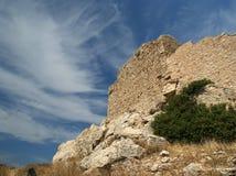 Château médiéval de Kritinia en Rhodes Greece, Dodecanese Photo libre de droits