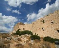Château médiéval de Kritinia en Rhodes Greece, Dodecanese Photographie stock