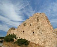 Château médiéval de Kritinia en Rhodes Greece, Dodecanese Photos libres de droits