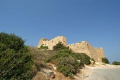 Château médiéval de Kritinia en Rhodes Greece, Dodecanese Photos stock