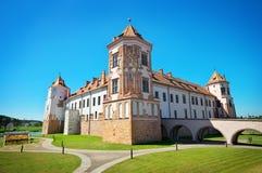 Château médiéval de MIR Photographie stock libre de droits