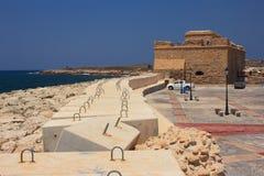 Château médiéval de Paphos Photo libre de droits
