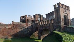 Château médiéval de Sforzesco Images libres de droits