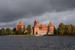Château médiéval de Trakai Images libres de droits