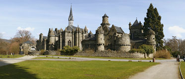 Château médiéval féerique Photo stock