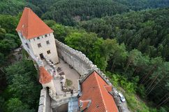 Château médiéval Kokorin, République Tchèque Image libre de droits