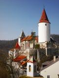 Château médiéval Krivoklat de conte de fées photo libre de droits