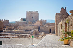 Château mauresque, Almeria, Andalousie, Espagne Photographie stock