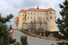 Château Mikulov, République Tchèque Photographie stock