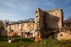 château Moitié-ruiné de Sieniawski 1534 ans dans Berezhany images stock