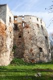 château Moitié-ruiné de Sieniawski 1534 ans dans Berezhany photo stock