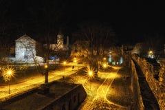 Château nocturne en Estonie photo stock