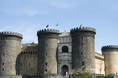 Château Nuovo 2, Naples image stock