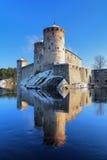 Château Olavinlinna dans Savonlinna, Finlande Photos stock
