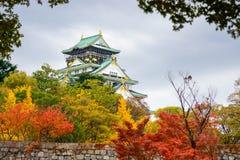 château Osaka d'automne Photographie stock libre de droits