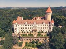 Château ou château médiéval de Konopiste dans la République Tchèque - résidence de famille impériale du Habsbourg image stock