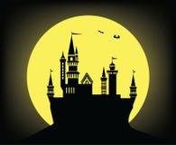 Château pendant la nuit illustration libre de droits