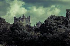 Château pendant la nuit Image stock