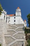 Château, porte, escaliers Photo libre de droits