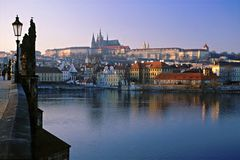 château Prague Photos stock