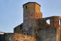 Château princier gothique dans Siewierz, Pologne images libres de droits