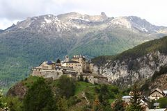 Château Queyras in Queyras Nature Park, France Stock Photography