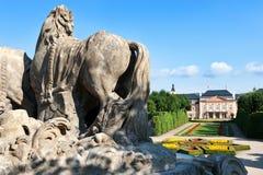 Château rococo Dobris, région de Bohème centrale, République Tchèque, Images libres de droits