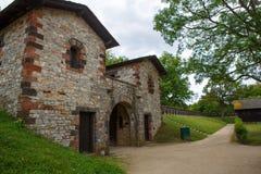 Château romain Saalburg dans les montagnes allemandes de Taunus près de Frankf Images libres de droits