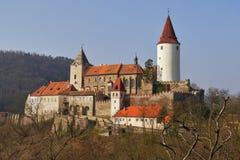 Château romantique avec la tour images libres de droits